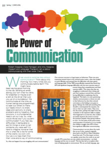 Front cover of 'The power of communication', an article taken from Carousel, the Diplomatic Service Families Association magazine