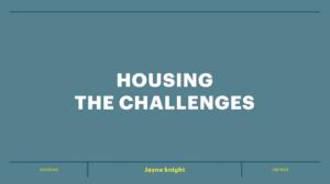 Title slide from Workshop 5: Housing