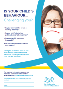 Image showing A3 CBF poster for professionals: Is your child's behaviour challenging you?