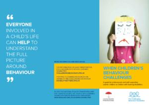 Image showing side 1 of leaflet - When children's behaviour challenges