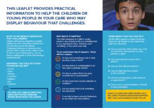 Image showing side 2 of leaflet - When children's behaviour challenges