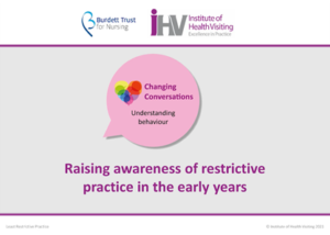 Animation title screen - Raising awareness of restrictive practice in the early years